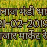 MAndi Rates 21-02-2019 , Mandi Bhav Today