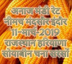 Mandi Rates 11-March-2019 | Haryana Rajasthan MP