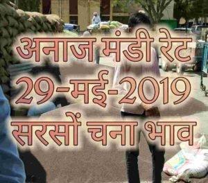 Mandi Bhav 29-05-2019 Sarso Mandi Rates