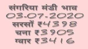 Mandi Bhav 03-07-2020 Anaj Rates Today