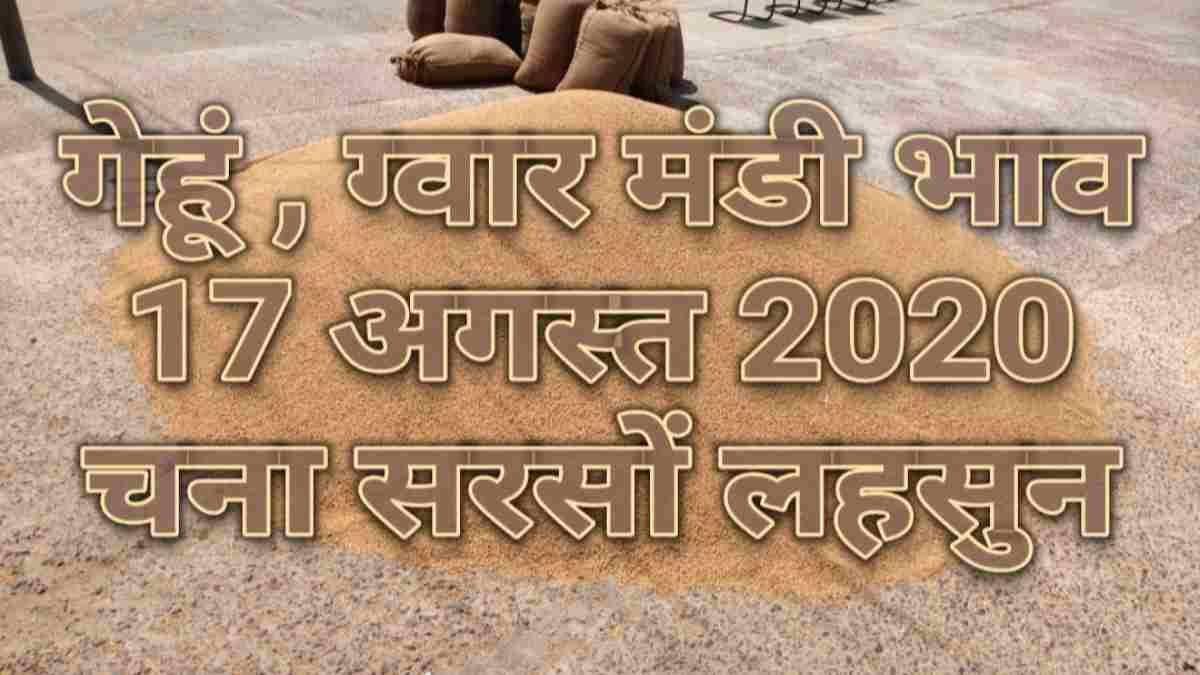 मंडी भाव 17 अगस्त 2020 , mandi bhav app 17-08-2020